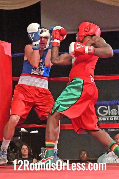 Bout 4 Demelhe Davis, Red Gloves, MLK Premier Boxing, Cleveland -vs- Kenneth Austin, Blue Gloves, Old School Boxing, Cleveland, 152 Lbs