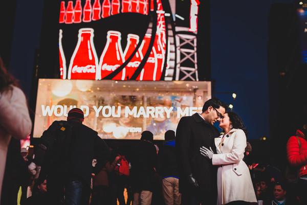 Sonia & Rahul - E-Sesh - Times Square