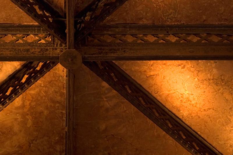 Underside of stairway landing, Bradbury Building