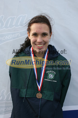 Awards Individual, D1 Girls - 2013 MHSAA LP XC Finals