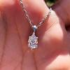 1.11ct Pear Shape Diamond Pendant GIA E VVS2 4