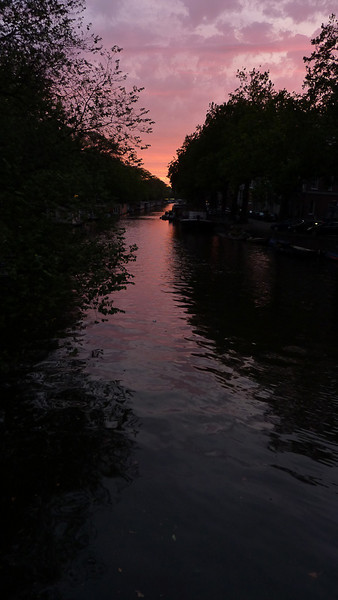 "Sunset on ""our"" canal."