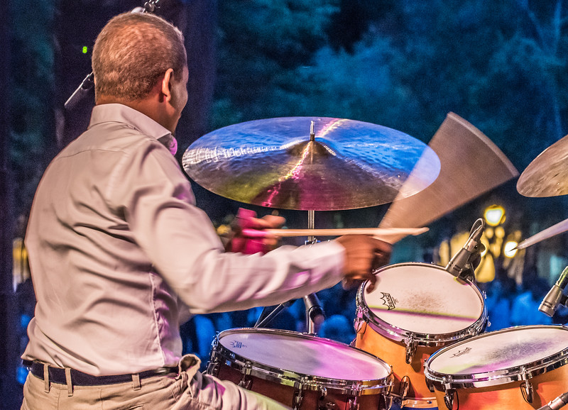Francisco Mela--17th Annual Twin Cities Jazz Festival 2015-Mears Park, St. Paul MN.