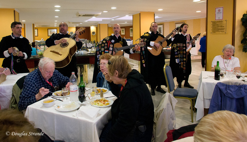 "Fri 3/11 at La Alhambra in Grenada: Lunch includes music by the ""University of Grenada"" group"