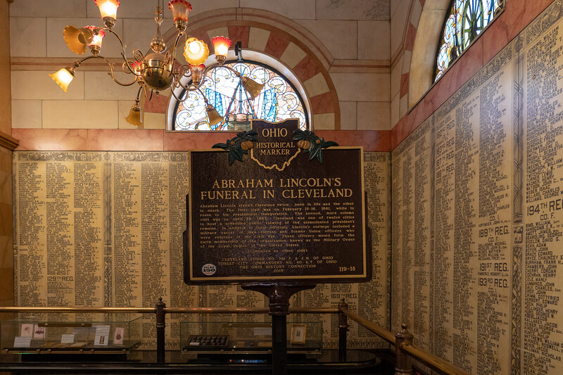 Inside the Soldiers' and Sailors' Monument