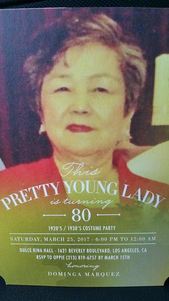 Dominga Marquez's 80th Birthday