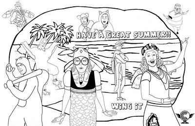 Wing It Coloring Pages