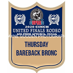 Thursday UPRA Finals Bareback Bronc