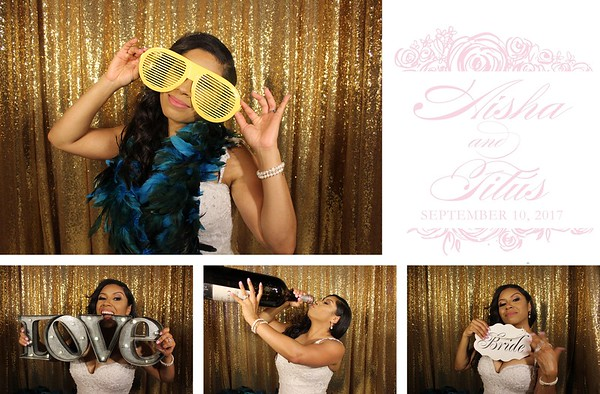 Aisha & Titus Wedding - 9.10.17 -Photo Strips