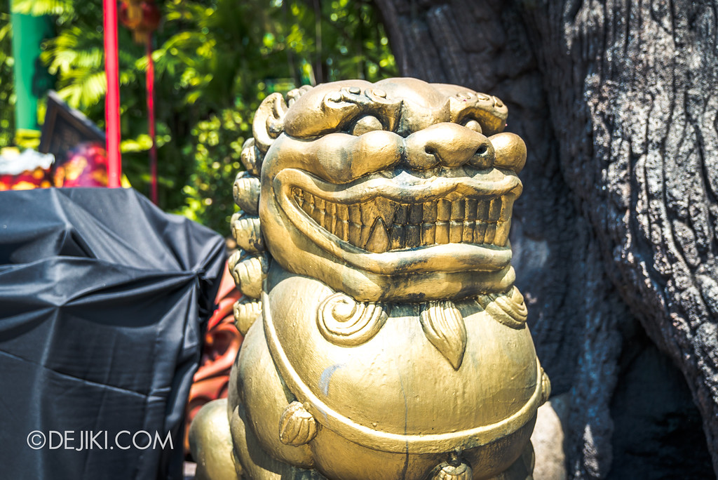 Halloween Horror Nights 7 Before Dark 2 Preview Update / Happy Horror Days scare zone - Chinese New Year holiday  golden stone lion