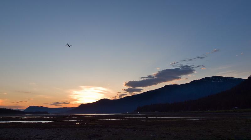 Late flight into Juneau.