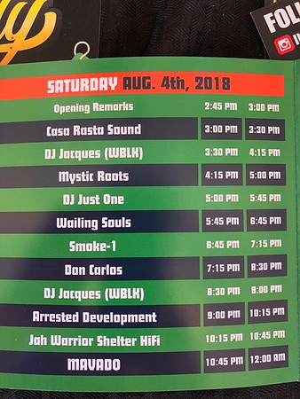 Raggae on the River 2018