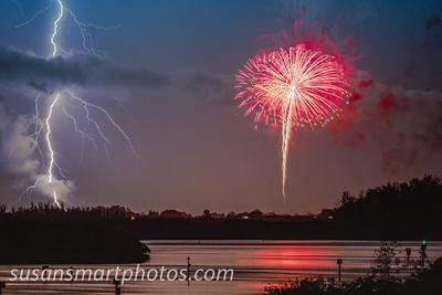 Dueling Fireworks