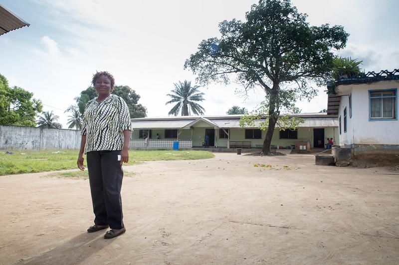 Monrovia, Liberia October 13, 2017 - Mamuyan Cooper, hospital administrator at the ES Grant Mental Health Hospital.