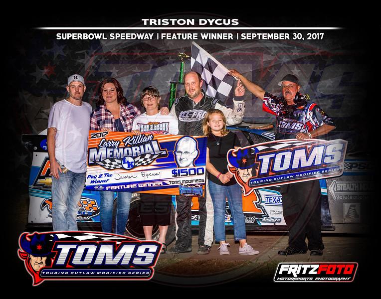 Superbowl Speedway, TOMS, Larry Killian, 9-30-17