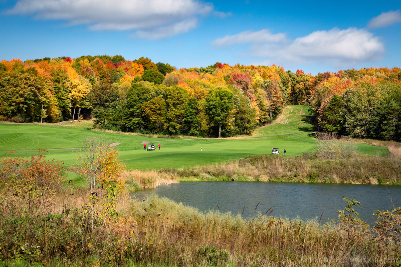 Beautiful fall golf at Wild Ridge in Eau Claire, Wisconsin.