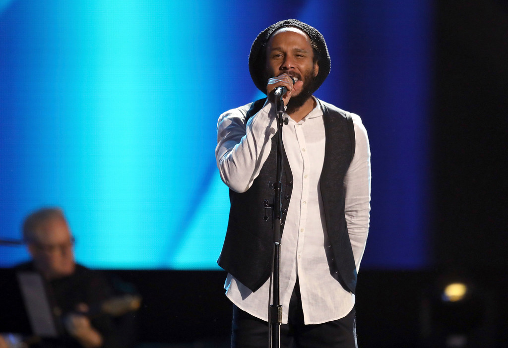 . Ziggy Marley performs at the 59th annual Grammy Awards on Sunday, Feb. 12, 2017, in Los Angeles. (Photo by Matt Sayles/Invision/AP)