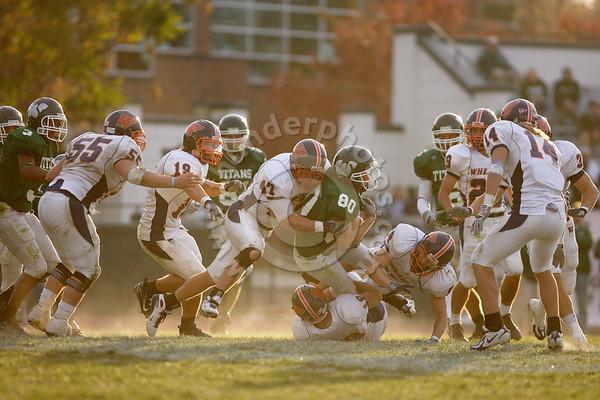 Wheaton College Football vs Illinois Wesleyan University (14-18), in Bloomington, Illinois, November 10, 2007