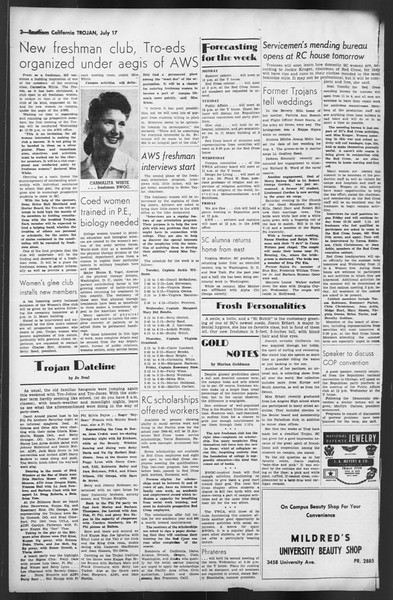 The Trojan, Vol. 35, No. 138, July 17, 1944