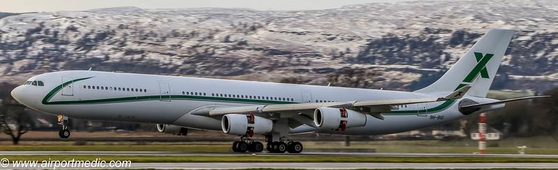 9H-BIG A340 Air X @ Glasgow Airport (EGPF)