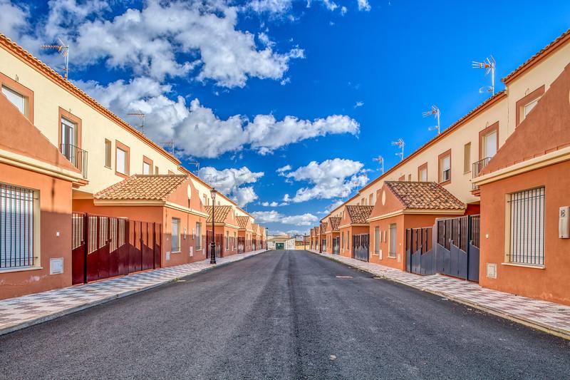 Terraced houses, Villamanrique de la Condesa, Seville, Spain