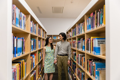 Jessica & Eric | A Colorful Indoor Engagement at Hunt Library