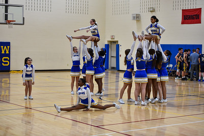 12/12 Cheerleaders Basketball Glenview vs Jordan