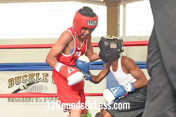 Bout 6 Tyler Duncan, Red Gloves -vs- Abdur Rahman Mason, Blue Gloves, DNA Level C B.C., 90 lb   Intermediate Div. Championship