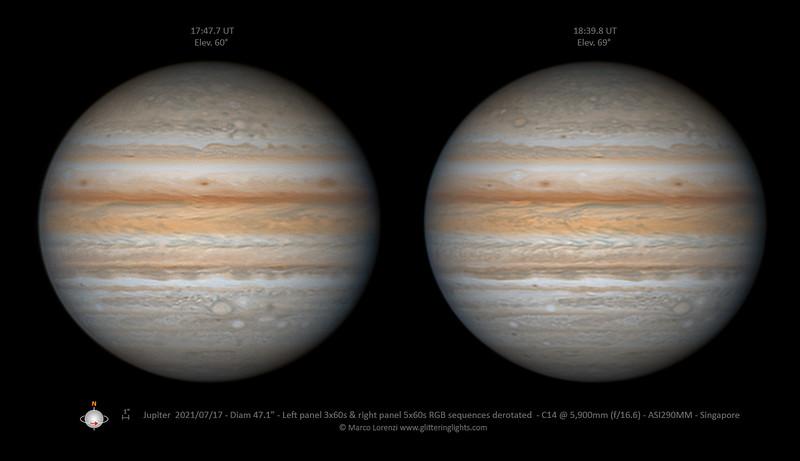 Jupiter on July 17, 2021