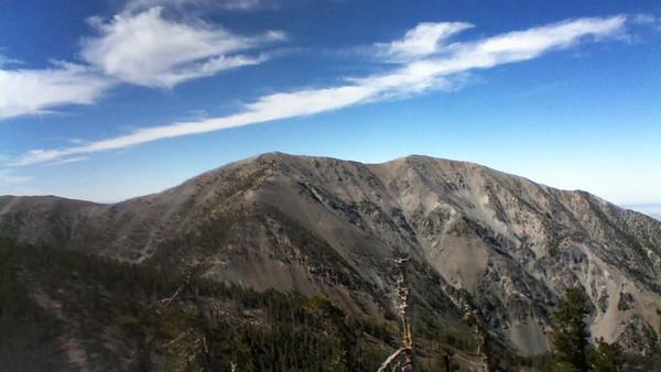 Pine Mountain 9654 feet San Gabriel Mountains