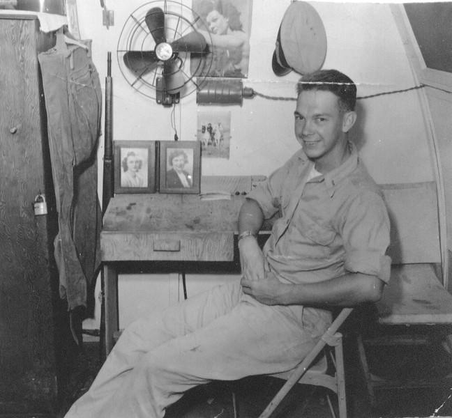 Lt (jg) Wayne J. Eldredge NOB, Guam, BOQ 1945.jpg