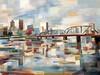 "Hawthorne Bridge-Borcherding, 36""x48"" on canvas"
