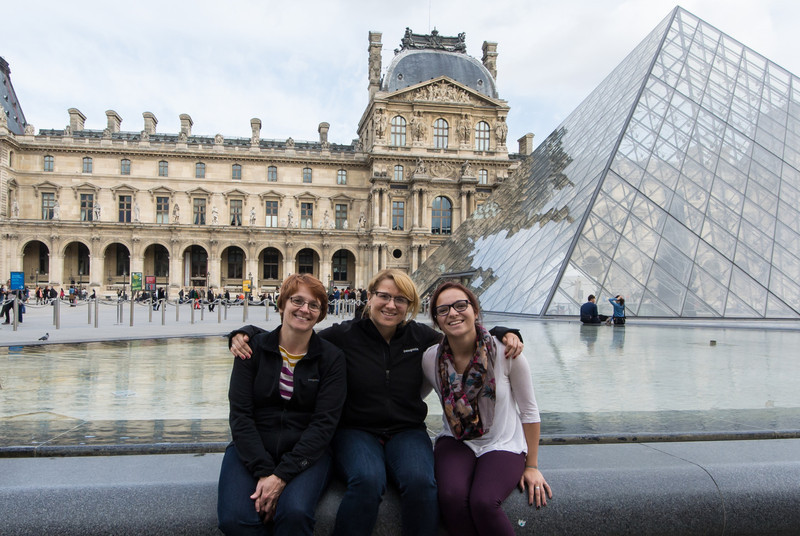 We didn't go in the Louvre