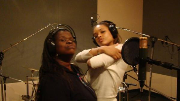"Recording Session In The Studio For The ""Church Girl"" Play"