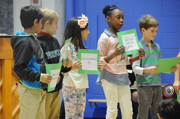 Third Graders Present on the Value of the Month: Responsibility