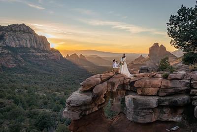 Alaina & Tyler 's Merry Go Round Rock Wedding