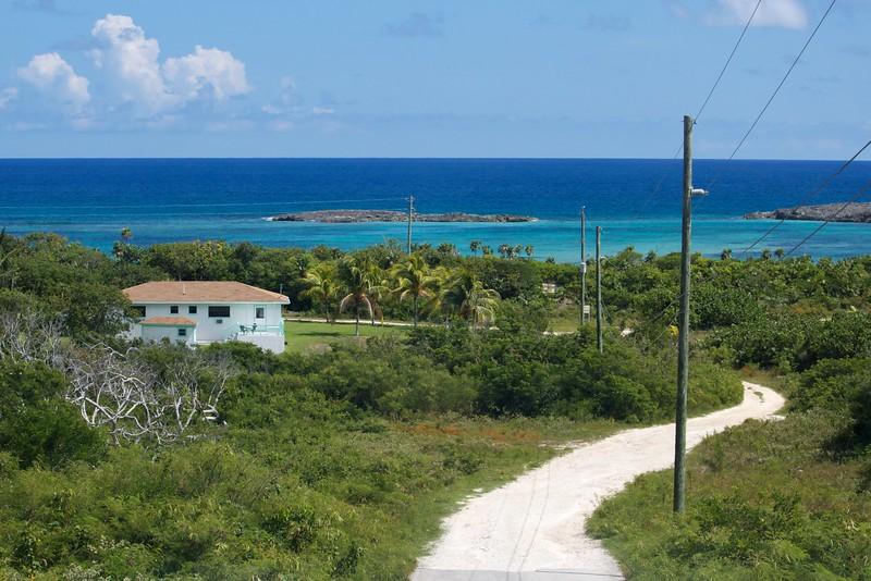 On the way to Dean's Blue Hole, Long Island, Bahamas
