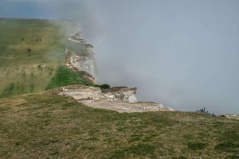 Misty White Cliffs
