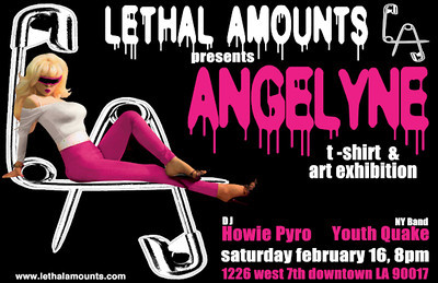 Lethal Amounts Grand Opening Party: Featuring Angelyne - Youth Quake and DJ Howie Pyro - at Lethal Amounts - Los Angeles, CA - February 16, 2013