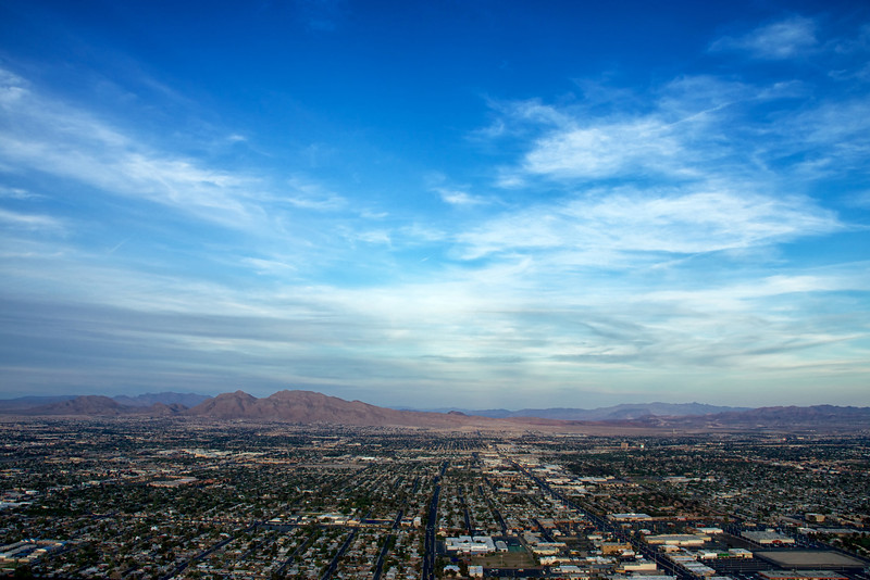 View of north Las Vegas from the top of the Stratosphere Hotel Las Vegas