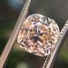 4.03ct Light Fancy Brown Antique Cushion Cut Diamond Halo Ring GIA LFB, SI1 45