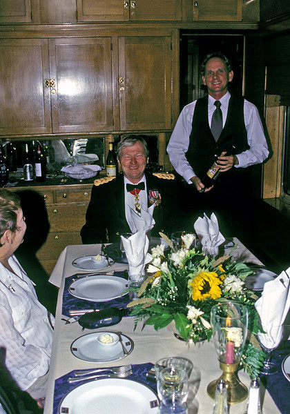 Keith had the best outfit that night so he got the head of the table.