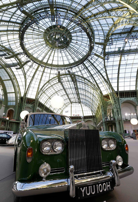 . A Rolls Royce Phantom VI Limousine (1969) motor car is displayed during an exhibition of vintage cars and motorcycles at the Grand Palais exhibition hall as part of the Retromobile vintage car show in Paris February 6, 2013. This exceptional collection of motor cars and motorcycles will go on sale at a Bonhams\' auction on February 7.  REUTERS/Philippe Wojazer