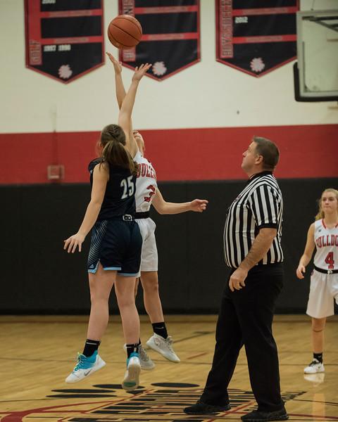 2019 Girls Varsity Basketball:  Hall-Dale vs Dirigo
