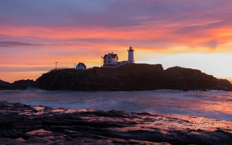 Early Sunrise at Nubble Light, Maine