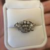 1.52ctw Victorian Diamond Crown Motif Clasp 18
