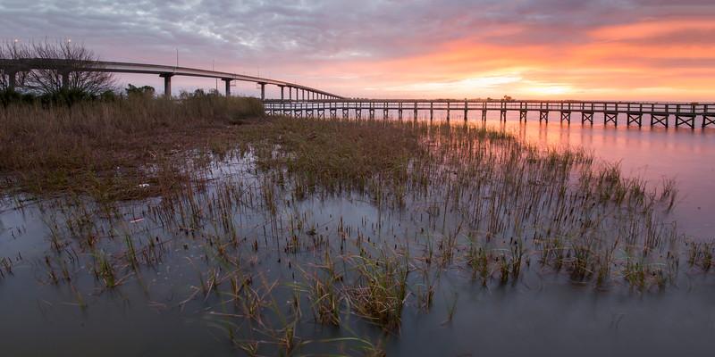 Bridges at Sunrise in Apalachicola
