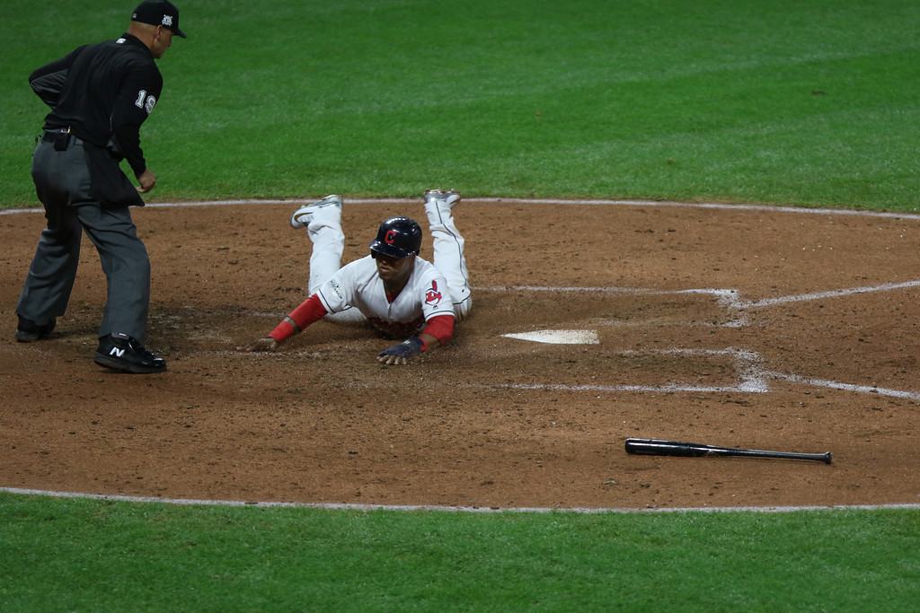 . Tim Phillis - The News-Herald Action from Game 1 of the American League Division Series between the Indians and Yankees at Progressive Field.