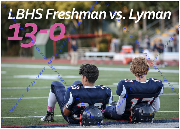 LBHS Fr FB vs. Lyman - October 15, 2015