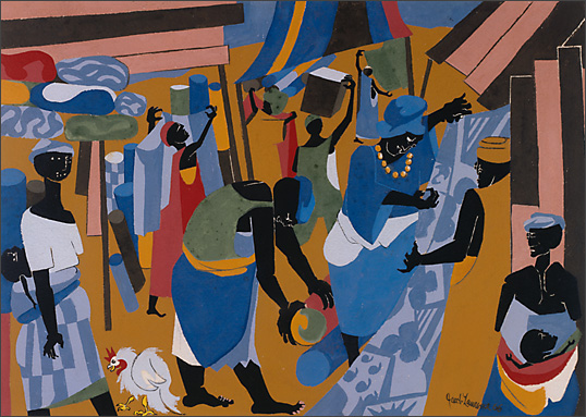 "Jacob Lawrence, ""Market Scene"" (1966)"